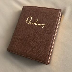 Burberry Leather gilded journal